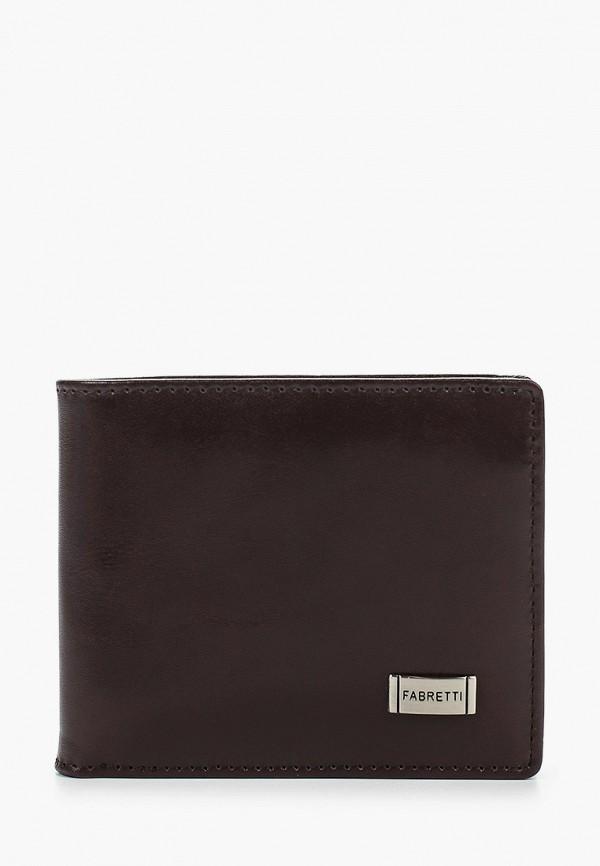 мужской кошелёк fabretti, коричневый