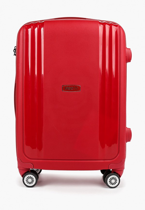 женский чемодан fabretti, красный
