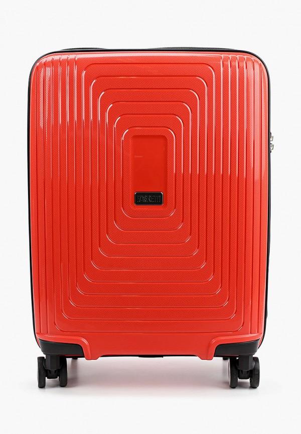 женский чемодан fabretti, оранжевый