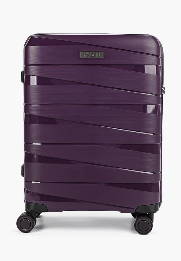 женский чемодан fabretti, фиолетовый