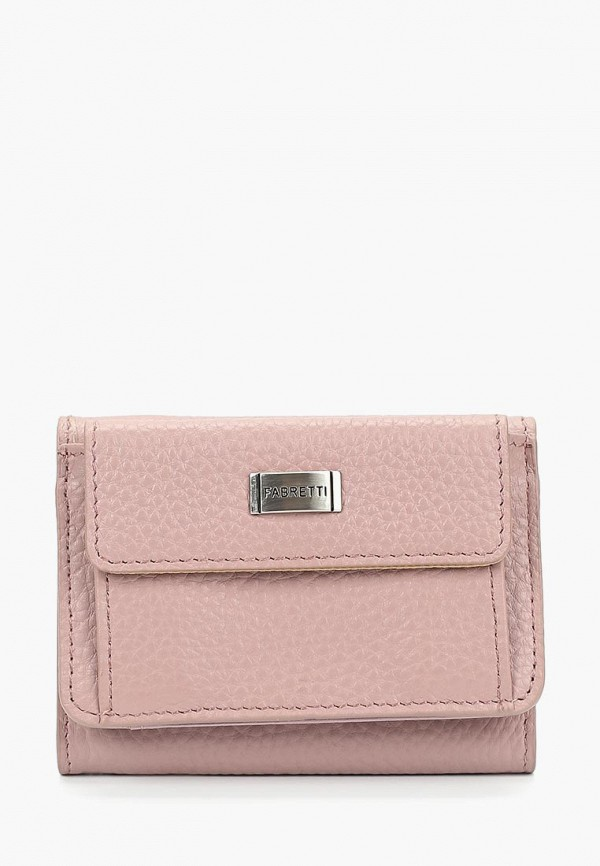 женский кошелёк fabretti, розовый