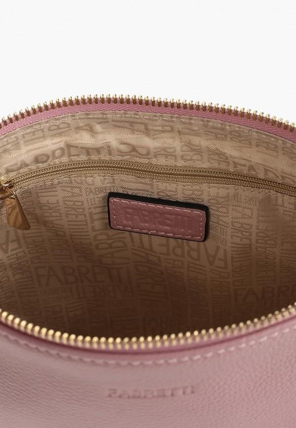 Фото 3 - женскую сумку Fabretti розового цвета
