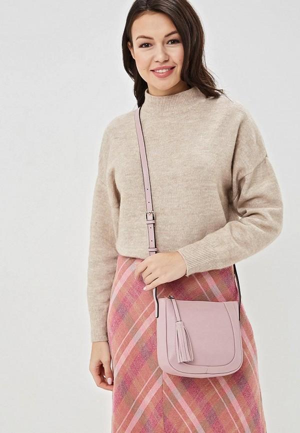 Фото 4 - женскую сумку Fabretti розового цвета
