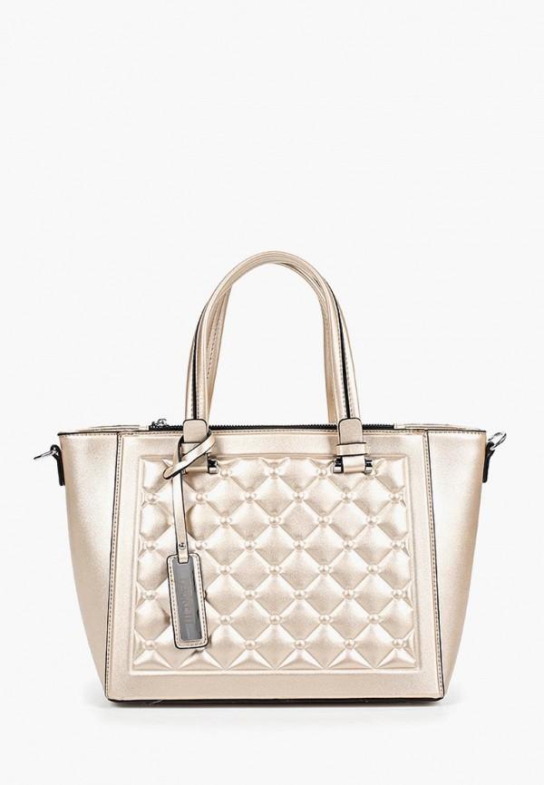 женская сумка fabretti, золотая