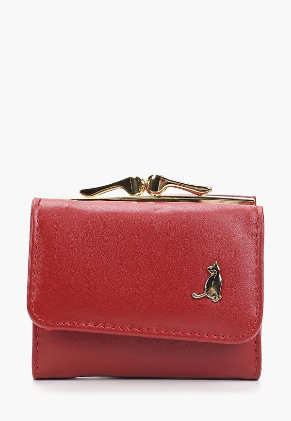 Фото - женский кошелек или портмоне Fabretti красного цвета