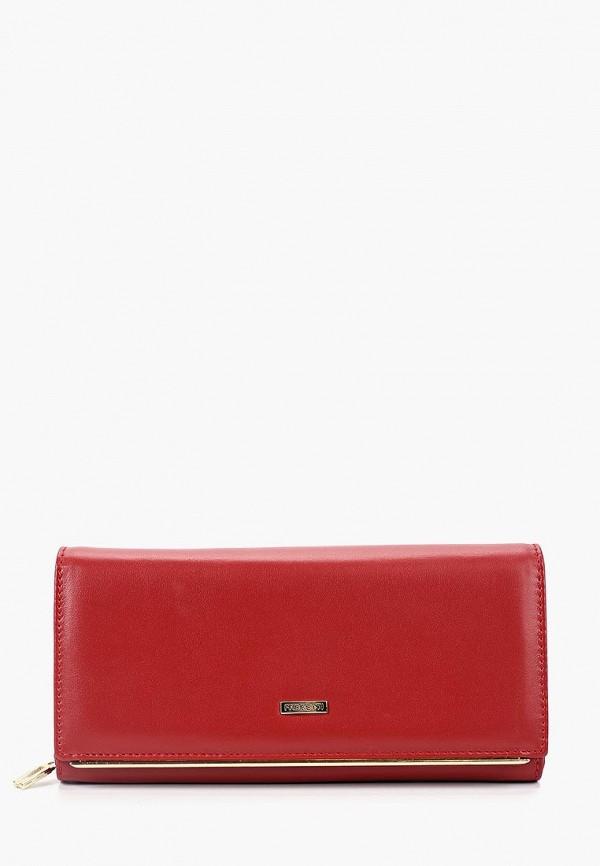женский кошелёк fabretti, красный