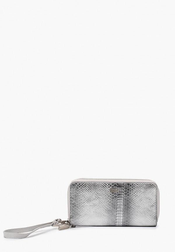 женский кошелёк fabretti, серебряный