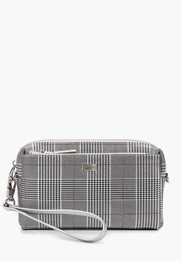 женская сумка fabretti, серебряная