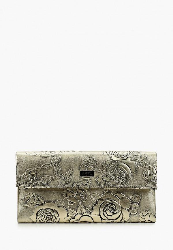 женский кошелёк fabretti, золотой