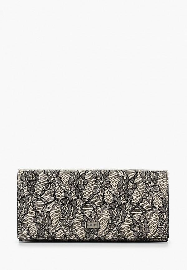 женский кошелёк fabretti, серый