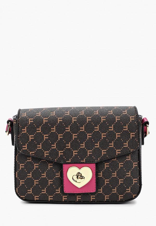 женская сумка fabretti, коричневая