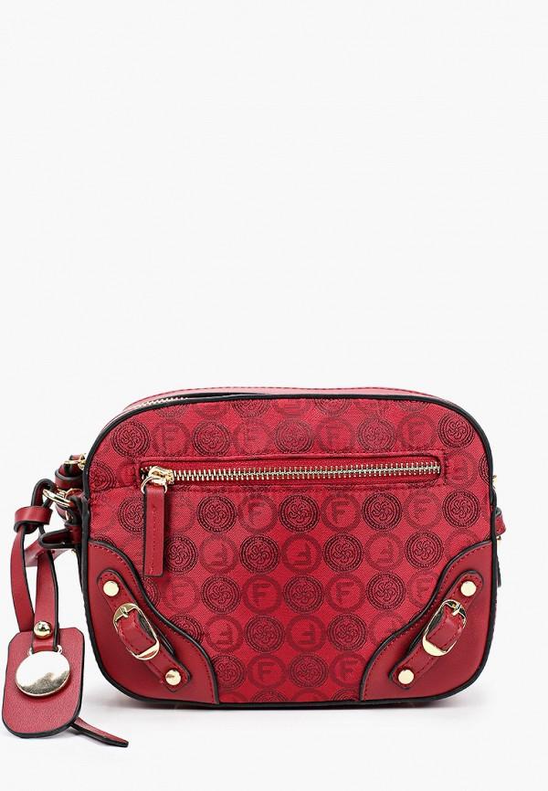 женская сумка через плечо fabretti, красная