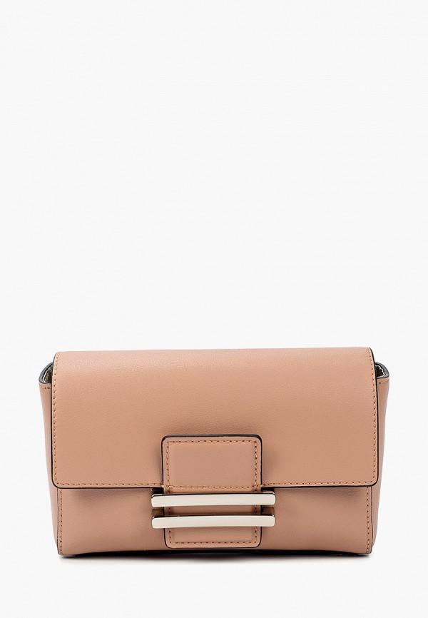 женская сумка fabretti, розовая