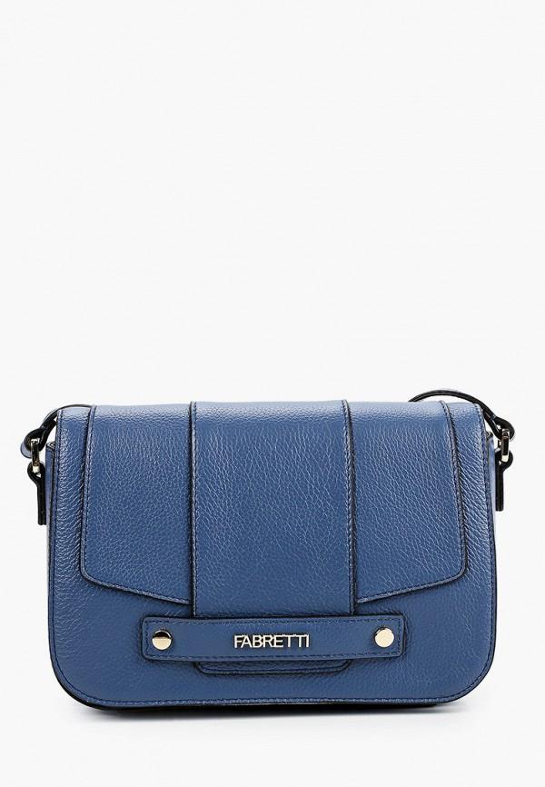 женская сумка через плечо fabretti, синяя