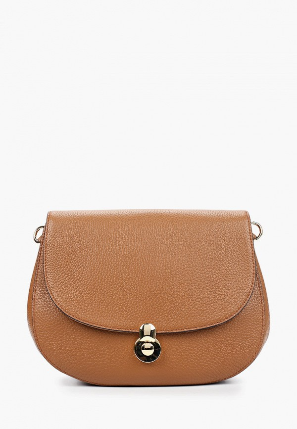 женская сумка через плечо fabretti, коричневая