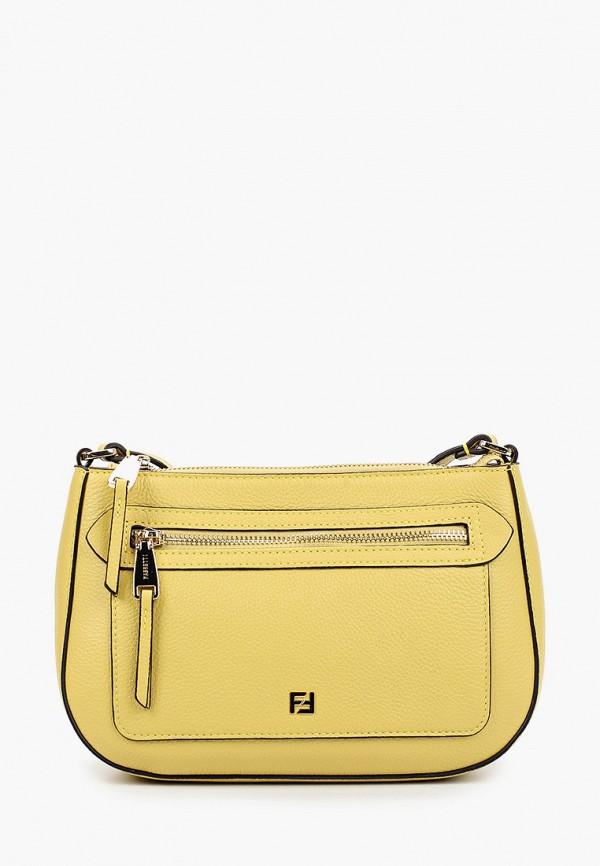 женская сумка через плечо fabretti, желтая