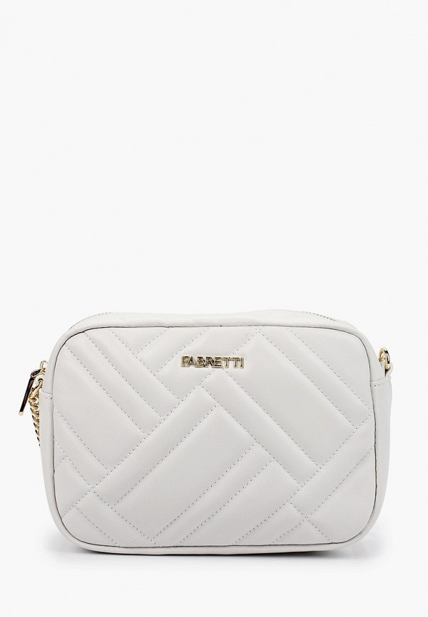 женская сумка через плечо fabretti, белая