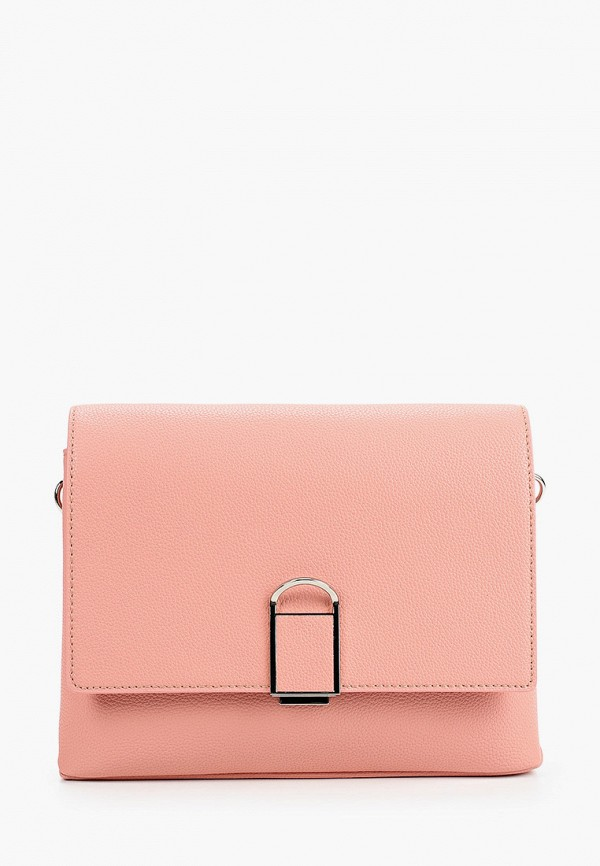 женская сумка через плечо fabretti, розовая