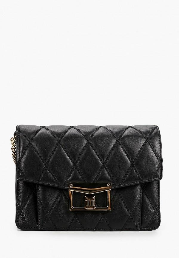 женская сумка через плечо fabretti, черная