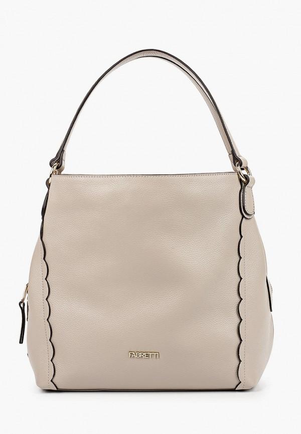 женская сумка fabretti, бежевая