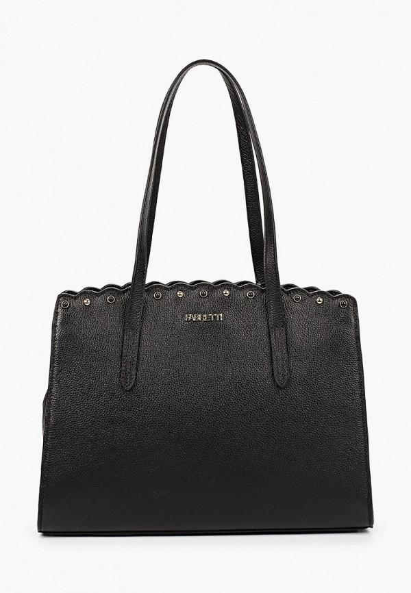 женская сумка с ручками fabretti, черная
