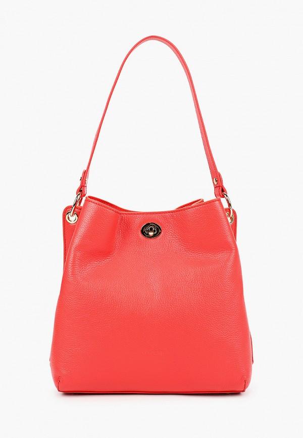 женская сумка с ручками fabretti, красная