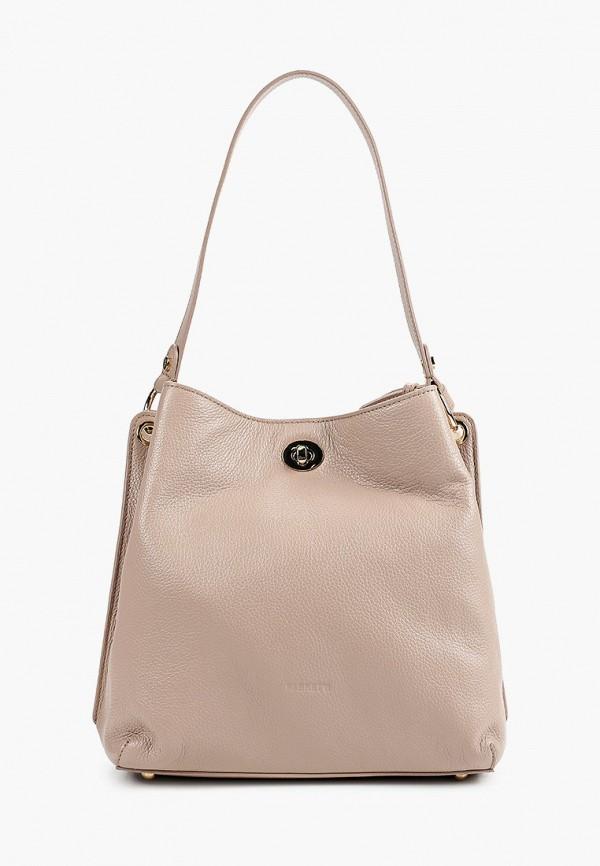 женская сумка с ручками fabretti, розовая