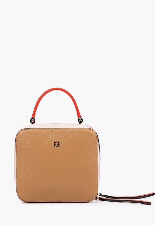 женская сумка через плечо fabretti, разноцветная