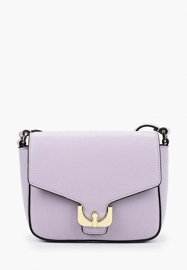 женская сумка через плечо fabretti, фиолетовая