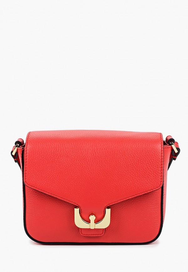 женская сумка fabretti, красная