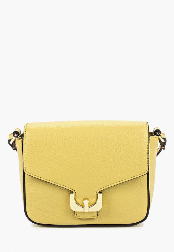 женская сумка fabretti, желтая