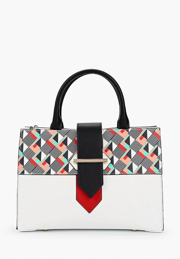 женская сумка с ручками fabretti, белая