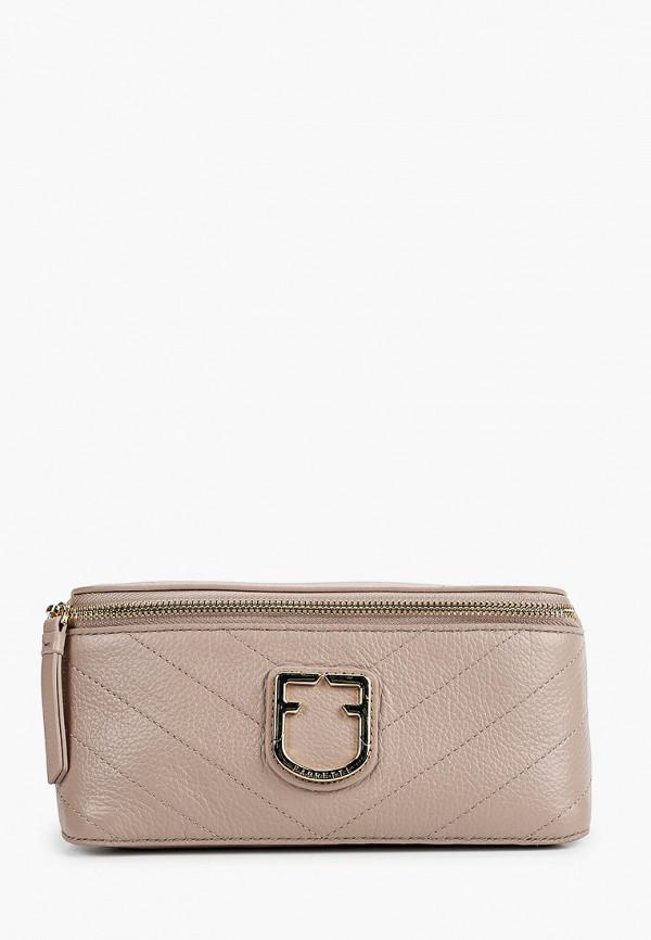 женская поясные сумка fabretti, бежевая