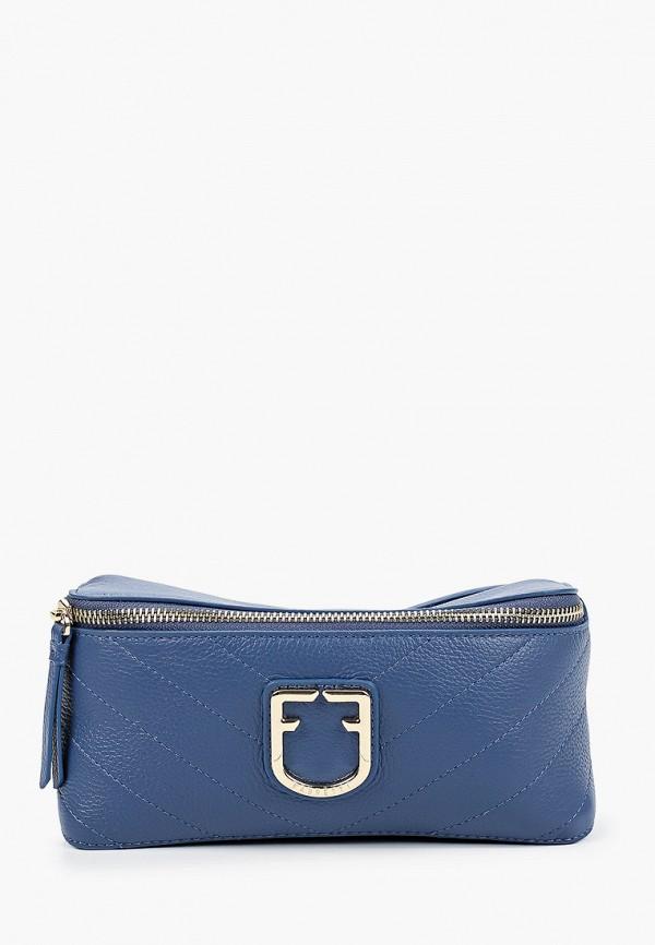 женская поясные сумка fabretti, голубая