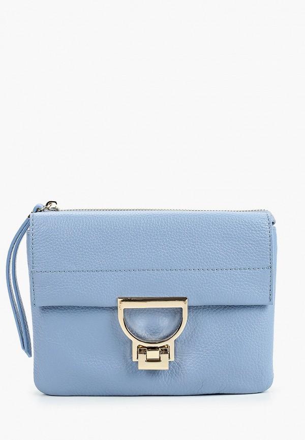 женская сумка через плечо fabretti, голубая