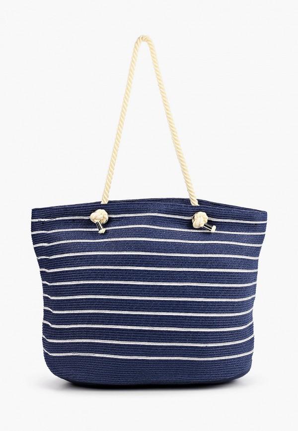 женская пляжные сумка fabretti, синяя