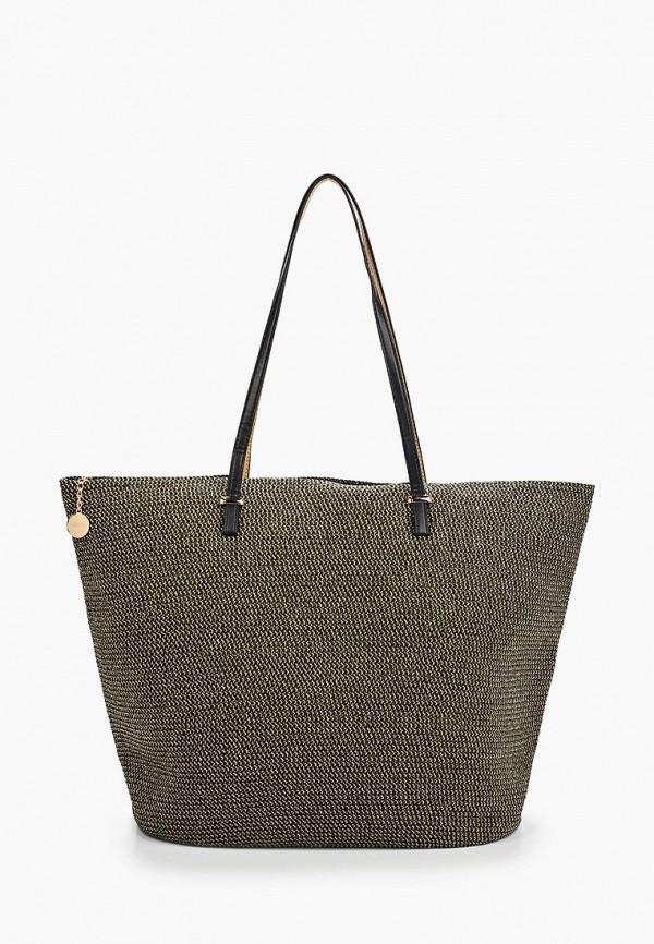 женская сумка с ручками fabretti, золотая