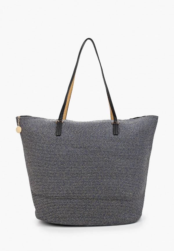 женская сумка с ручками fabretti, синяя