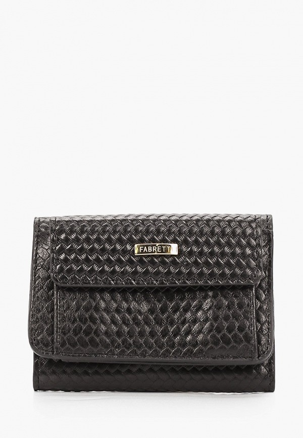 женский кошелёк fabretti, черный