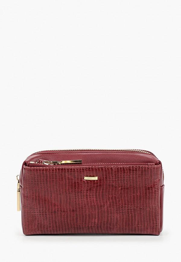 женская сумка fabretti, бордовая