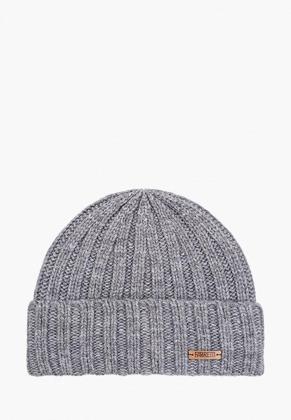 мужская шапка fabretti, серая
