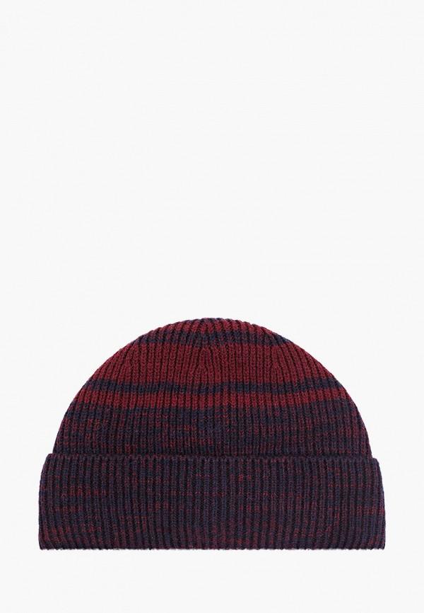 мужская шапка fabretti, бордовая