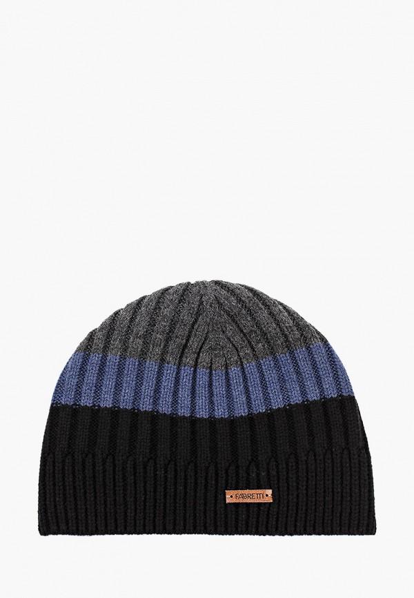 мужская шапка fabretti, разноцветная