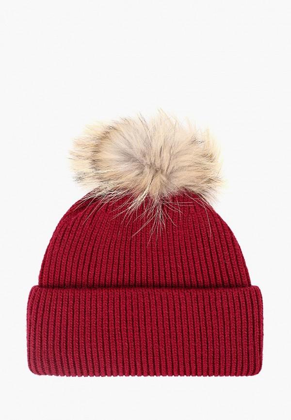 женская шапка fabretti, бордовая