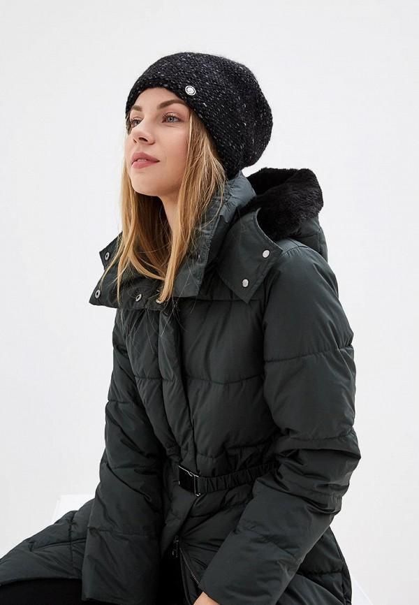 Фото 3 - женскую шапку Fabretti черного цвета
