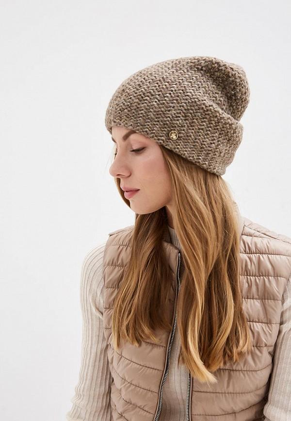 Фото 3 - женскую шапку Fabretti бежевого цвета