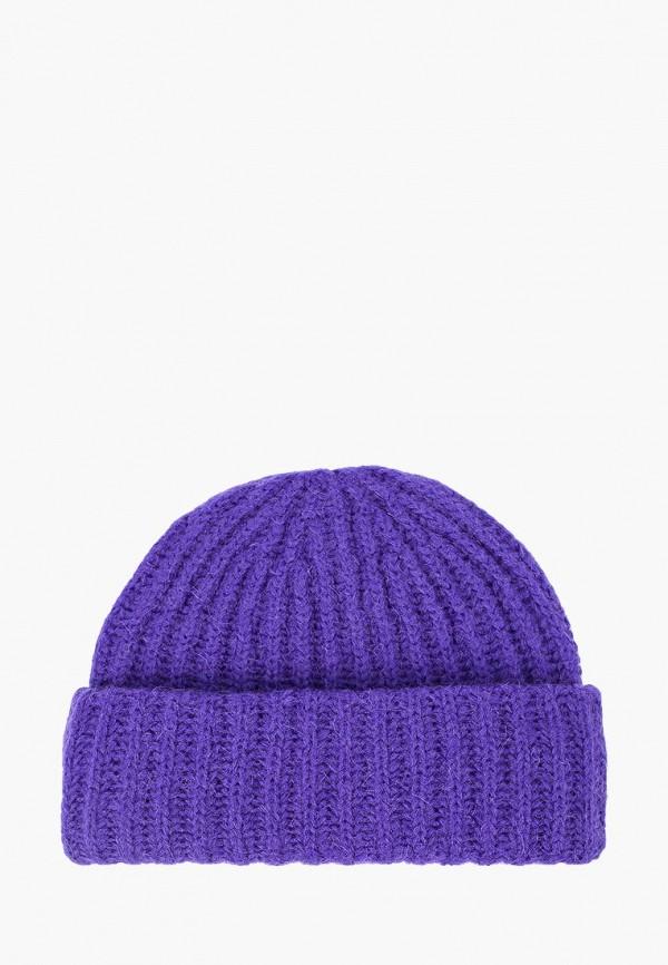 женская шапка fabretti, фиолетовая