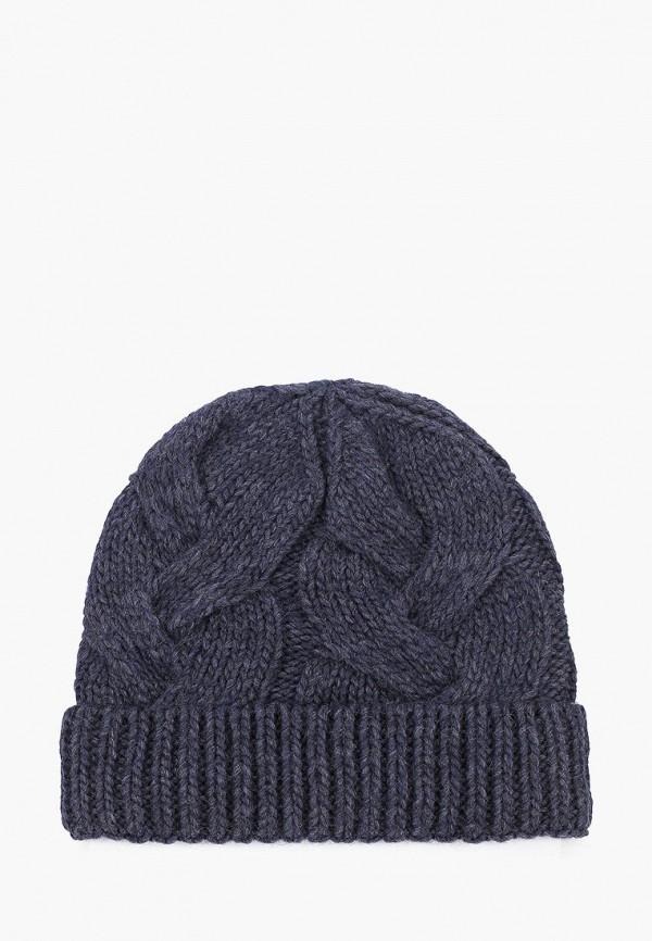 женская шапка fabretti, синяя