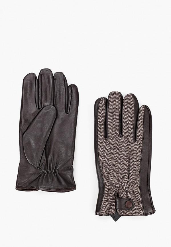 мужские перчатки fabretti, коричневые
