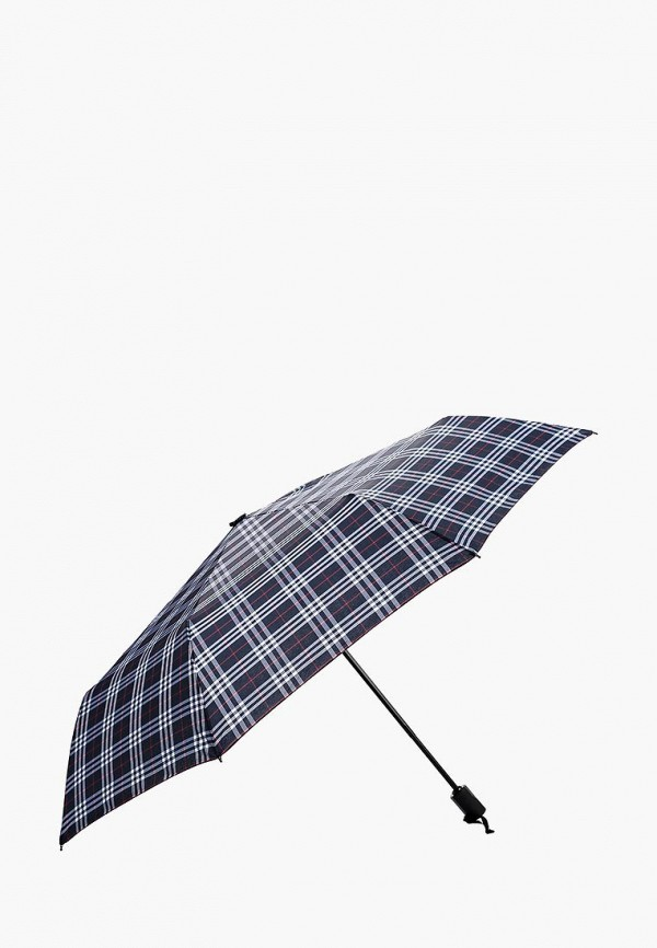 Фото 2 - Зонт складной Fabretti синего цвета